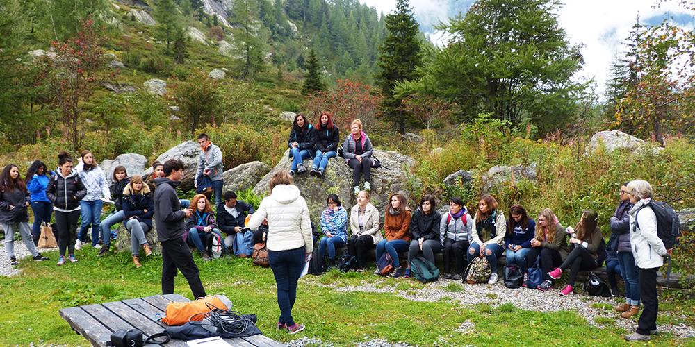 Sortie de terrain avec les étudiants du Master 2 de tourisme de l'IAE Savoie Mont-Blanc, 16 septembre 2016