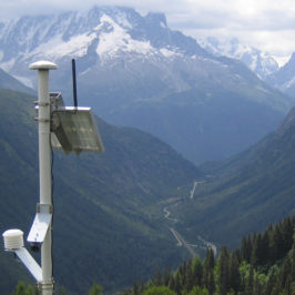 Station de mesure des températures Phénoclim à Loriaz © CREA Mont-Blanc