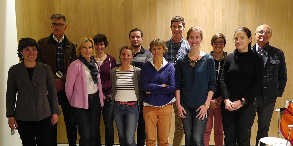 L'équipe du CREA Mont-Blanc et une partie du conseil d'administration rassemblés à l'AG 2017