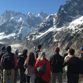 Des étudiants américains en séjour à Chamonix