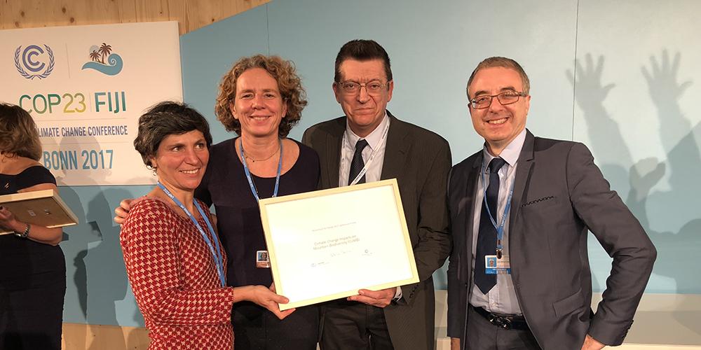 Le CREA Mont-Blanc et Orange reconnus par les Nations Unies pour leur action pour le changement climatique à la COP 23 © CREA Mont-Blanc