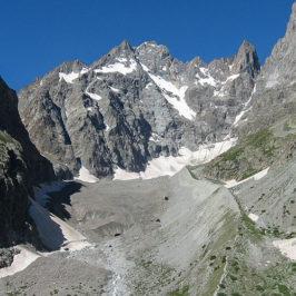 Bassin et moraine du glacier noir © JFaure - Parc national des Écrins