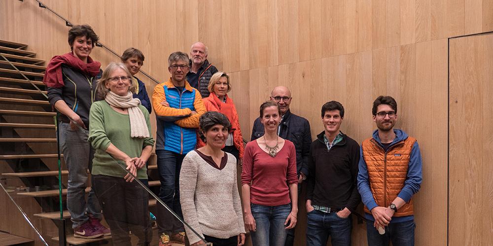Une partie de l'équipe et du Conseil d'Administration du CREA Mont-Blanc pendant l'Assemblée Générale 2018 © ABajeux