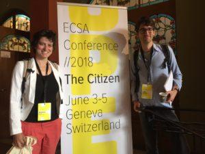 Marjorie Bison et Colin Van Reeth à l'ECSA 2018 à Genève © CREA Mont-Blanc
