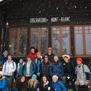 The first snowflakes at the Mont-Blanc Observatory. Photo: Hillary Gerardi
